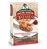 GlutenFreeda Strawberry and Brown Sugar with Flax Oatmeal, 10.2 Ounce - 8 per case.