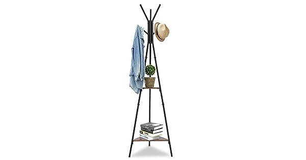 Amazon.com: KINGSO - Perchero de pie con 6 ganchos: Kitchen ...