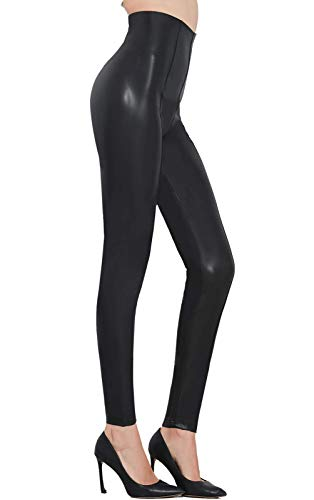 Pelisy Womens Sexy Faux Leather Pants Black Skinny High Waisted Leggings Small from Pelisy
