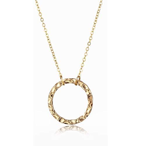 CARSINEL Dainty Handmade 14K Gold Fill New Moon Necklace for Women (New Moon (New Moon Necklace)