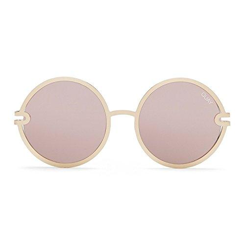 Quay Australia UKIYO Women's Sunglasses Round Lenses Metal Frame - - Australia Rose Sunglasses Gold Quay