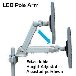 Pivot Arm Lcd Wall Mount - DP-855BS Height Adustable Pole & Wall Mount LCD arm