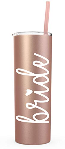 Bride Tumbler with Straw (Rose Gold) -