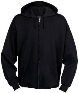 Mens Plain Zip Up Hoodie (Large / Chest 42