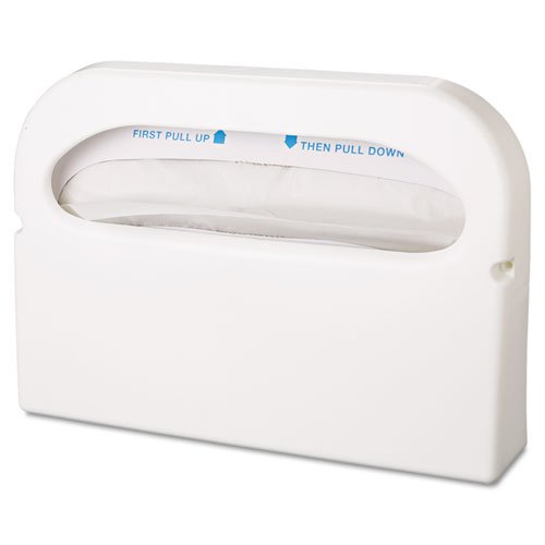 Hospital Specialty Co. - Toilet Seat Cover Dispenser, Half-Fold, Plastic, White, 16w x 3 1/4d x 11 1/2h HG12 (DMi EA