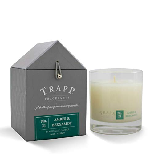 Trapp Signature Home Collection No. 21 Amber & Bergamot Poured Scented Candle, 7-Ounce