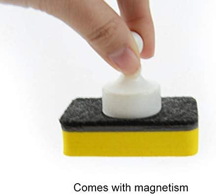 Set di 8 spugne magnetiche per lavagna MNJM con forti calamite rimuove la pulizia a secco
