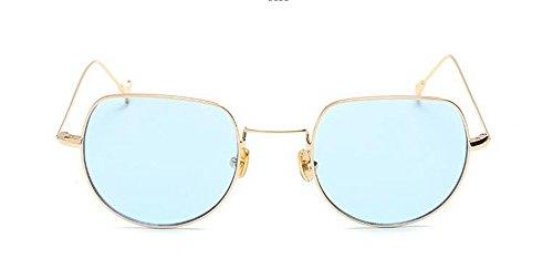 inspirées soleil retro métallique de vintage Film en du lunettes Lennon polarisées cercle Bleu rond style nYtZZ1