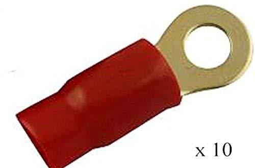 (10-0 Gauge Ring Terminal Red Ring Terminals 3/8