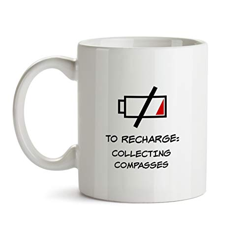 Collecting Compasses - Gift Mug - AA137 Funny I Love Doing Present Gag Time To Recharge Coffee Tea Cup For Coworker Friend Men Women Inexpensive Fun Idea ()