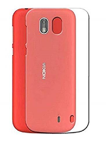Wurzel Transparent Soft Silicone Slim Back Cover Case for Nokia 1   Transparent