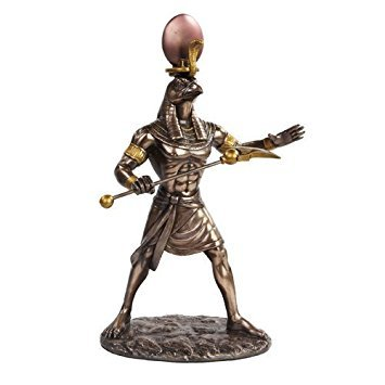 PTC 11 Inch Egyptian Ra Mythological God Bronze Finish Statue Figurine ()