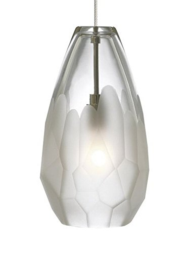 RLFS Briolette - One Light Monorail Pendant, Satin Nickel Finish with Frost Glass ()