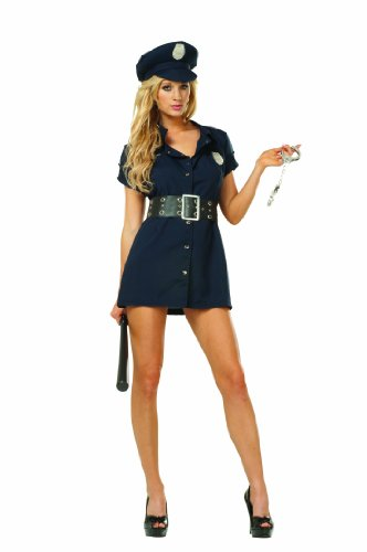 RG Costumes Plus-Size In The Line Of Duty, Navy Blue, X-Large (Convict Lady Plus Size Costume)
