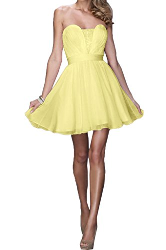 Missdressy - Vestido - plisado - para mujer amarillo