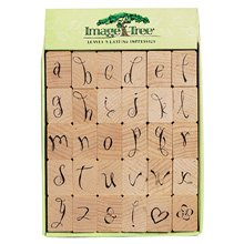 Image Tree Rubber Stamp Set - Loopy Alphabet (Ek Success Alphabet Stamps)