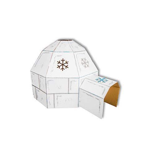Kid-Eco Igloo de Carton casa de juguete(Blanco): Amazon.es ...