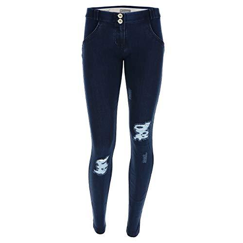 Punto Efecto costuras Xxs Azul De Denim Scuro Pitillo Freddy Largo Estándar Y Wr Talle Jeans Pantalón up® a6cqcwzxCv