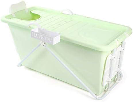 大人折りたたみバスタブ大きなバスタブ小盆地折り畳み式のバスタブ (Color : Green)