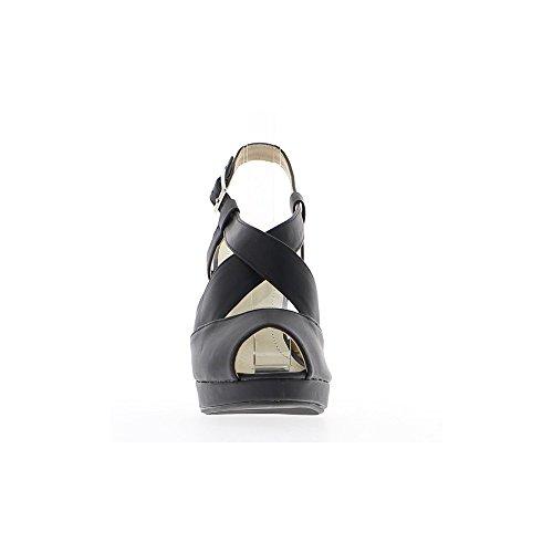 Sandali donna nero suggerimenti aprire piattaforma e tacco 11cm