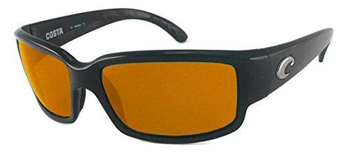 Costa Del Mar Sunglasses - Caballito- Glass / Frame: Shiny Black Lens: Polarized Copper Wave 580 Glass-CL11CW580 (Wave Mar Del Costa)