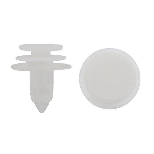 Amazon.com: eDealMax 50Pcs claro Blanco Plastic Clips Pin Sujetador Protección Contra salpicaduras Molding Mat 8 mm: Automotive