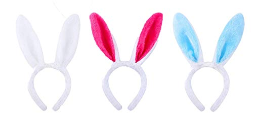 3 Pack-Cute Rabbit Bunny Hat Cap Party Gift Halloween Easter Day Novelty Party Dress up Cosplay (Mix)