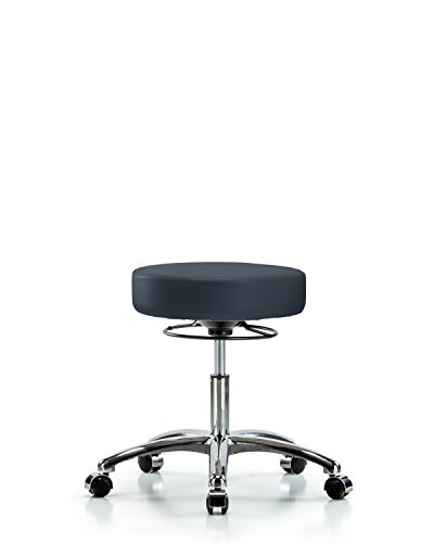 Adjustable Stool for Exam Rooms, Labs, and Dentists with Wheels - Chrome, Desk Height, Imperial (Adjustable Height Lab Table)