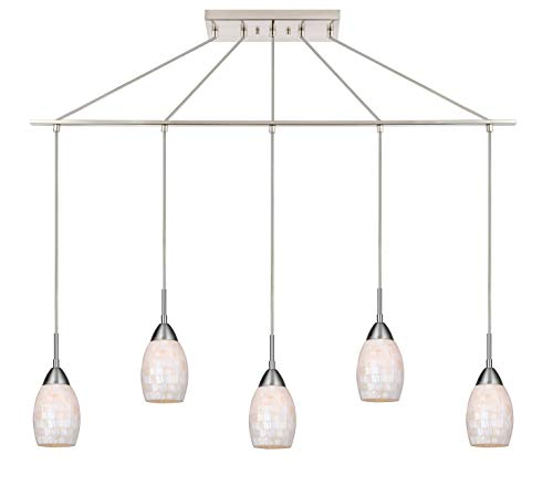 (Woodbridge Lighting 13229STN-C20407 Pendant, Satin Nickel)