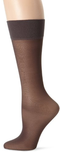 (Hanes Womens Alive Full Support Sheer Knee Highs (0A446) -BARELY BLA -One Size)