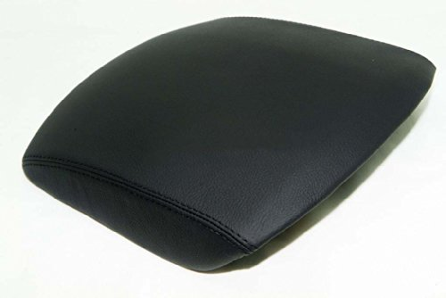Fits 2009-2013 Honda Pilot Real Black Leather CONSOLE LID ARMREST COVER (Leather Part Only) ()