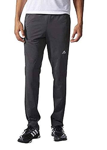Adidas Mens Tapered Weekender Drawstring Pants (Dark Grey, X-Large)