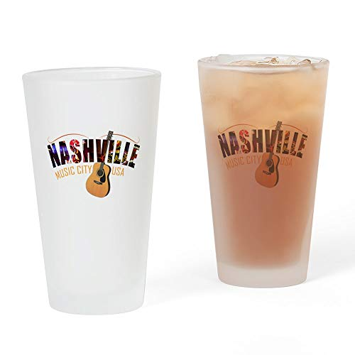 CafePress Nashville Music City USA Pint Glass, 16 oz. Drinking Glass]()