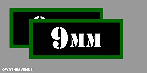 "9MM Ammo Can Labels for Ammunition Case 3.5"" x 1.50"" stickers decals 2PACK"