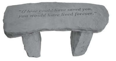 Kay Berry  Inc. 37320 If Love Could Have Saved You   Angel Memorial Bench    29 Inches X 12 Inches X 14.5 Inches