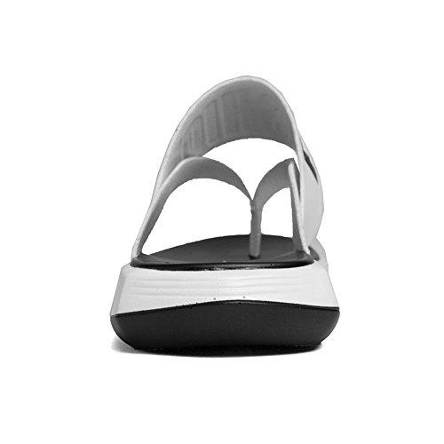 Scarpe shoes Casual piatti Infradito in morbidi pelle vera 2018 spiaggia Bianca per antiscivolo uomo EU Mens Pantofole da Infradito Sandali Dimensione Color 38 05qzq