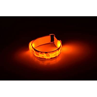 Chiefmax Adjustable LED Light Up Camo Bracelet/Necklace for Dance Party, Rave, Concert, Club (Punk Dog Collar Style): Health & Personal Care