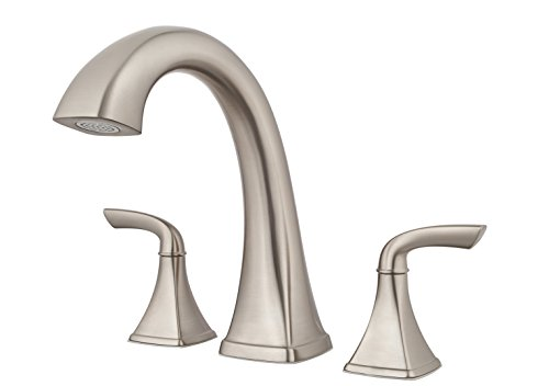 (Price Pfister RT65BSK Bronson 2-Handle 3-Hole Roman Tub Faucet Trim, Brushed Nickel)