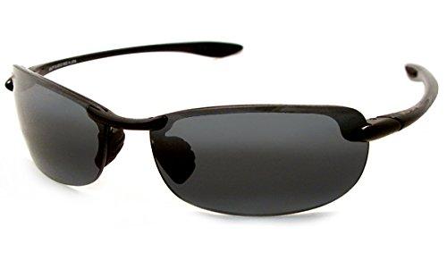 Maui Jim Makaha Sunglasses,Gloss Black Frame/Neutral Grey Lens,one size