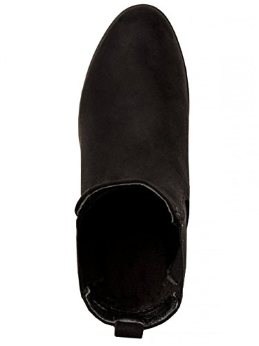 CASPAR Fashion - Botas Chelsea mujer Negro - negro