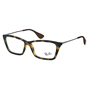Ray-Ban Women's RX7022 Shirley Eyeglasses Rubber Havana 52mm
