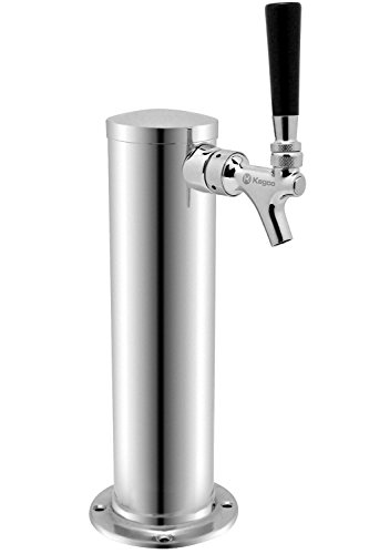 Keg Tower - Kegco KC D4743T-SS Polished Single Faucet Draft Beer Tower, 3
