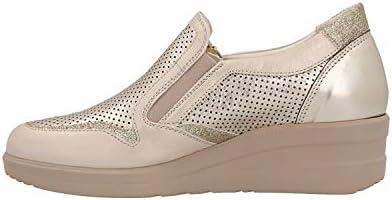 MELLUSO Sneakers pour Femme en Cuir Beige R20131-COME
