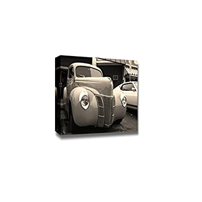 Canvas Prints Wall Art - Classic Car Show on Woodward Dream Cruise | Modern Wall Decor/Home Decoration Stretched Gallery Canvas Wrap Giclee Print & Ready to Hang - 12