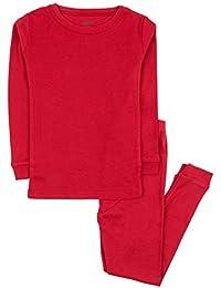 Kids Pajamas Boys   Girls Solid Colors 2 Piece Pajama Set 100% Cotton (Size 57df75ffb