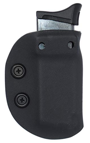 Black Jacket Holster IWB/OWB Ambidextrous Magazine Carrier Mag Pouch Ruger LCP, EC9(s) and LC9 Models (Solid Black, Ruger LCP Mag)
