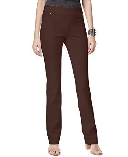 INC International Concepts Women's Pull-On Straight-Leg Pants (Coffee Bean, 16 Short)