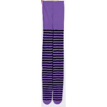Forum Novelties Adult Striped Tights Purple/Black Stripe