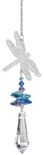 Woodstock Chimes CFDR Woodstock Dragonfly Crystal Fantasy-Rainbow Maker Collection, 10-Inch Long, ()