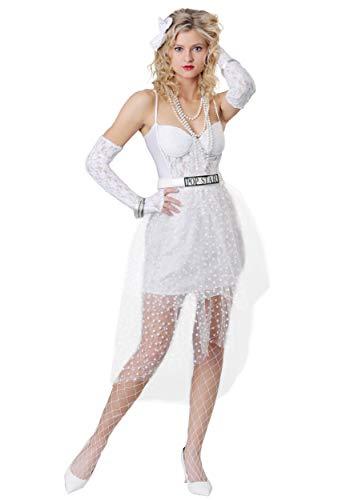 Women's Like a Virgin Popstar Costume Large White